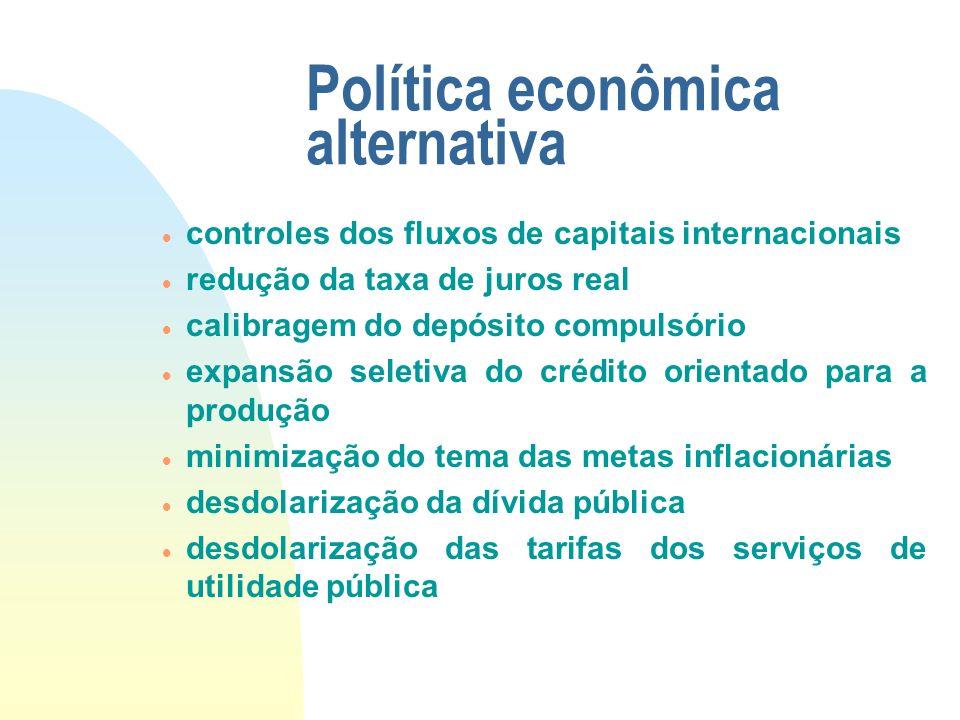 Política econômica alternativa