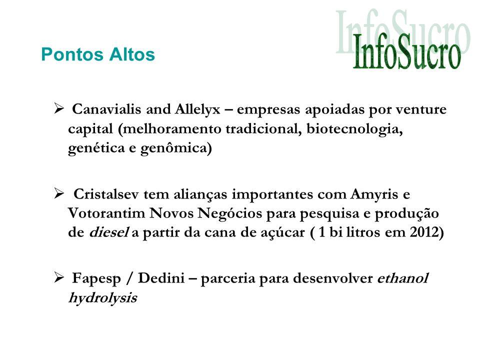 Pontos Altos Canavialis and Allelyx – empresas apoiadas por venture capital (melhoramento tradicional, biotecnologia, genética e genômica)