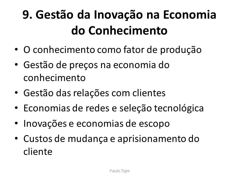 9. Gestão da Inovação na Economia do Conhecimento