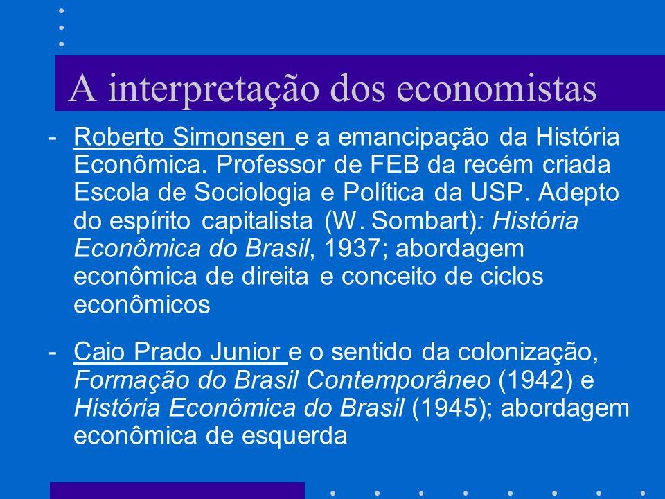 A interpretação dos economistas