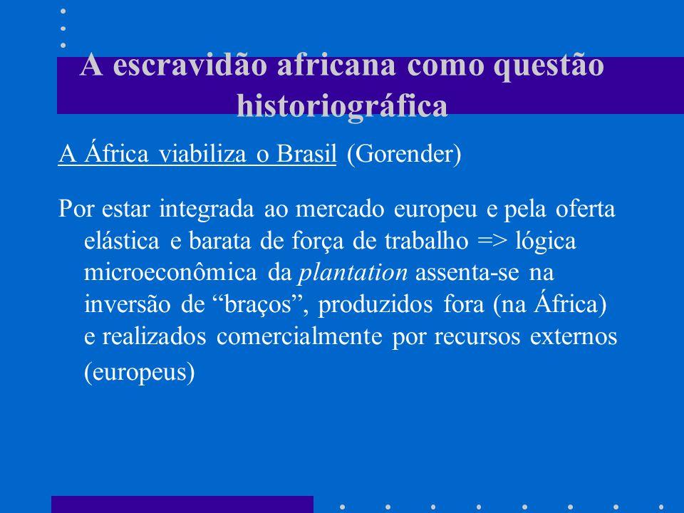 A escravidão africana como questão historiográfica