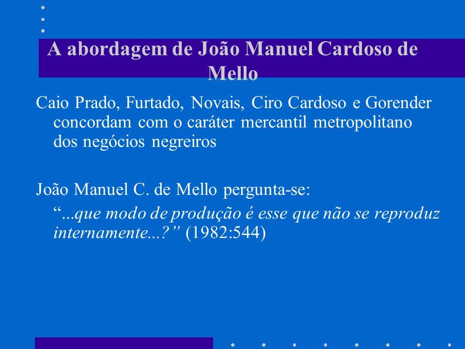 A abordagem de João Manuel Cardoso de Mello