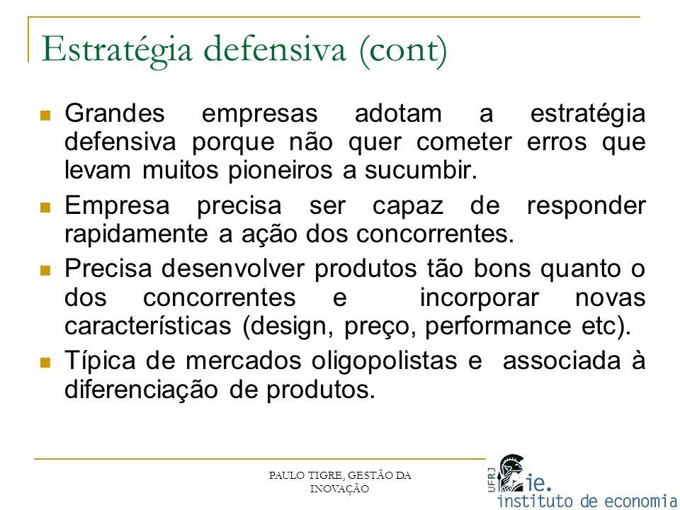 Estratégia defensiva (cont)