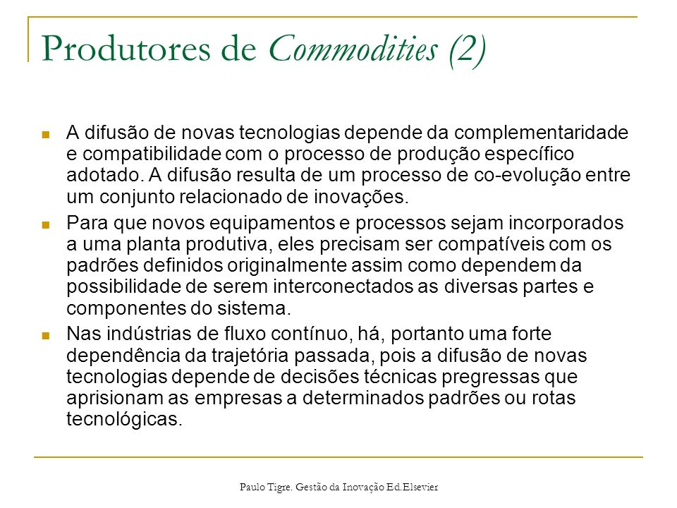Produtores de Commodities (2)