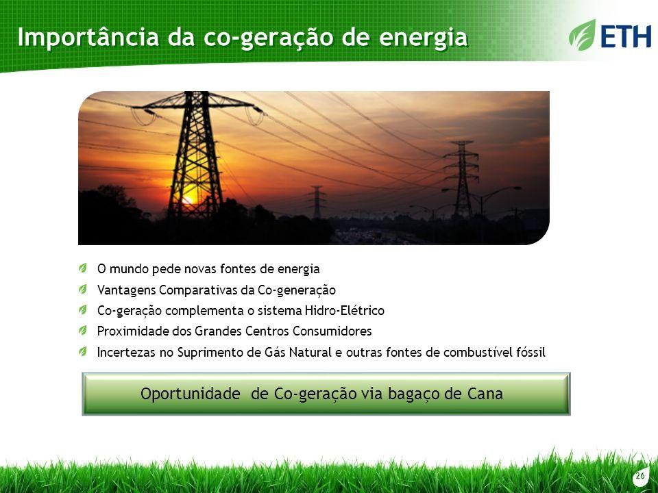 Importância da co-geração de energia