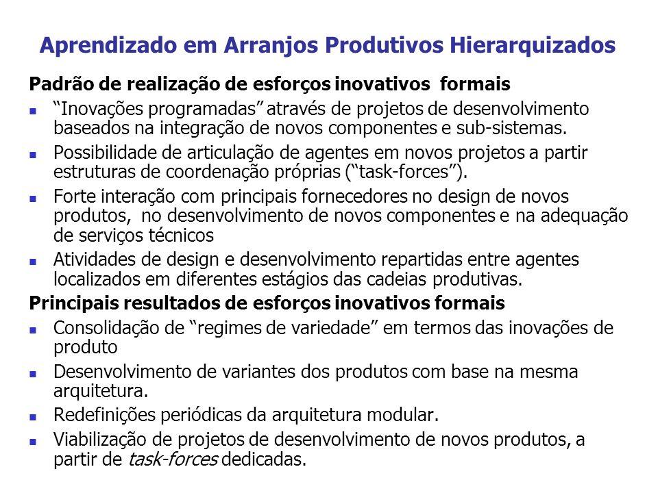 Aprendizado em Arranjos Produtivos Hierarquizados