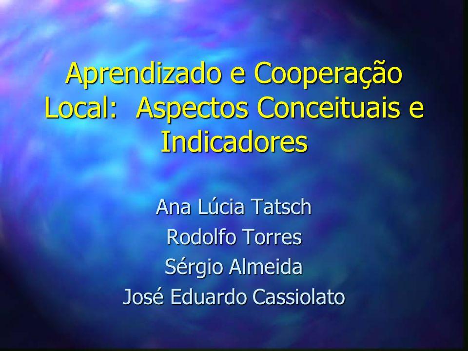 Aprendizado e Cooperação Local: Aspectos Conceituais e Indicadores