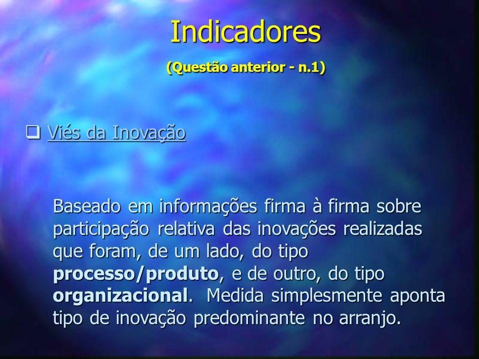 Indicadores (Questão anterior - n.1)