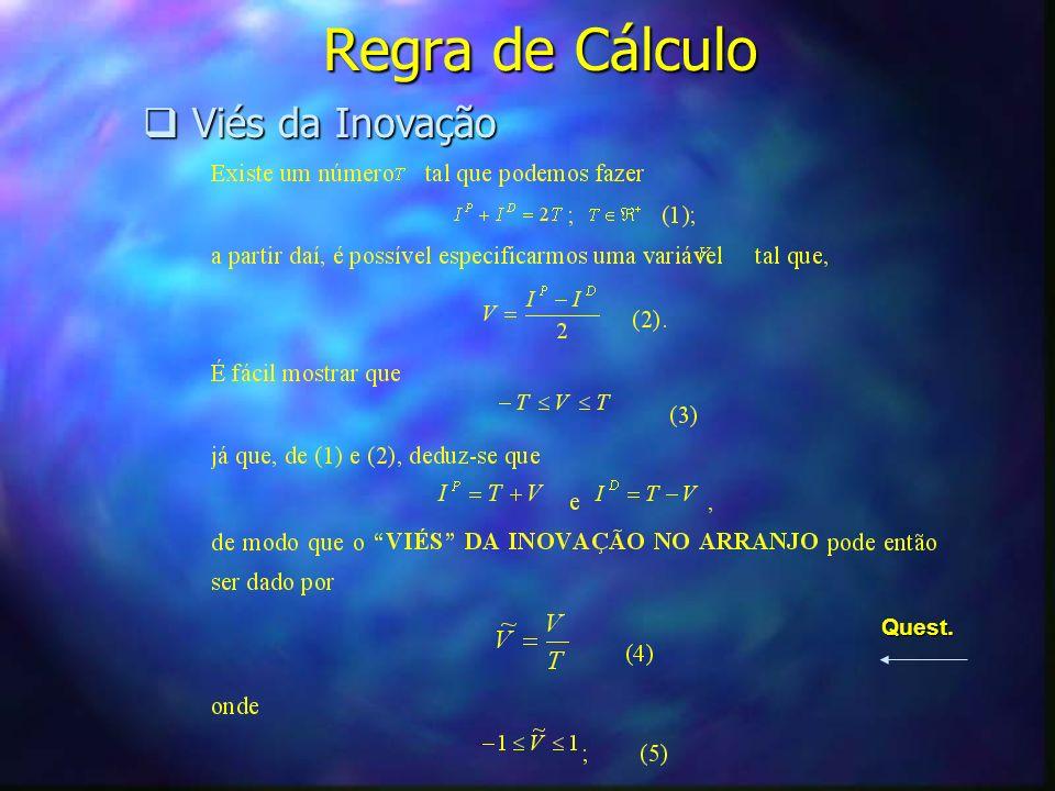 Regra de Cálculo Viés da Inovação Quest.