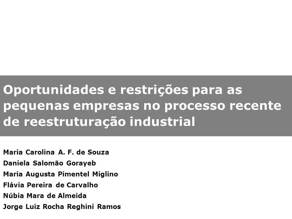 Oportunidades e restrições para as pequenas empresas no processo recente de reestruturação industrial