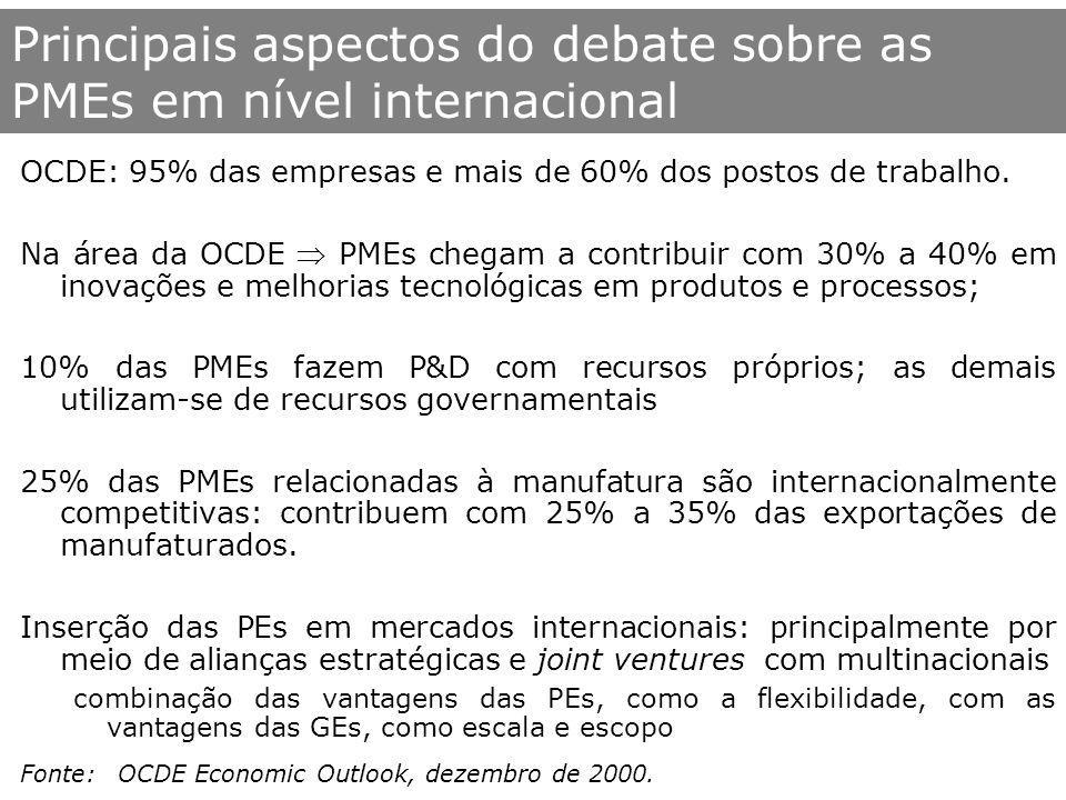 Principais aspectos do debate sobre as PMEs em nível internacional