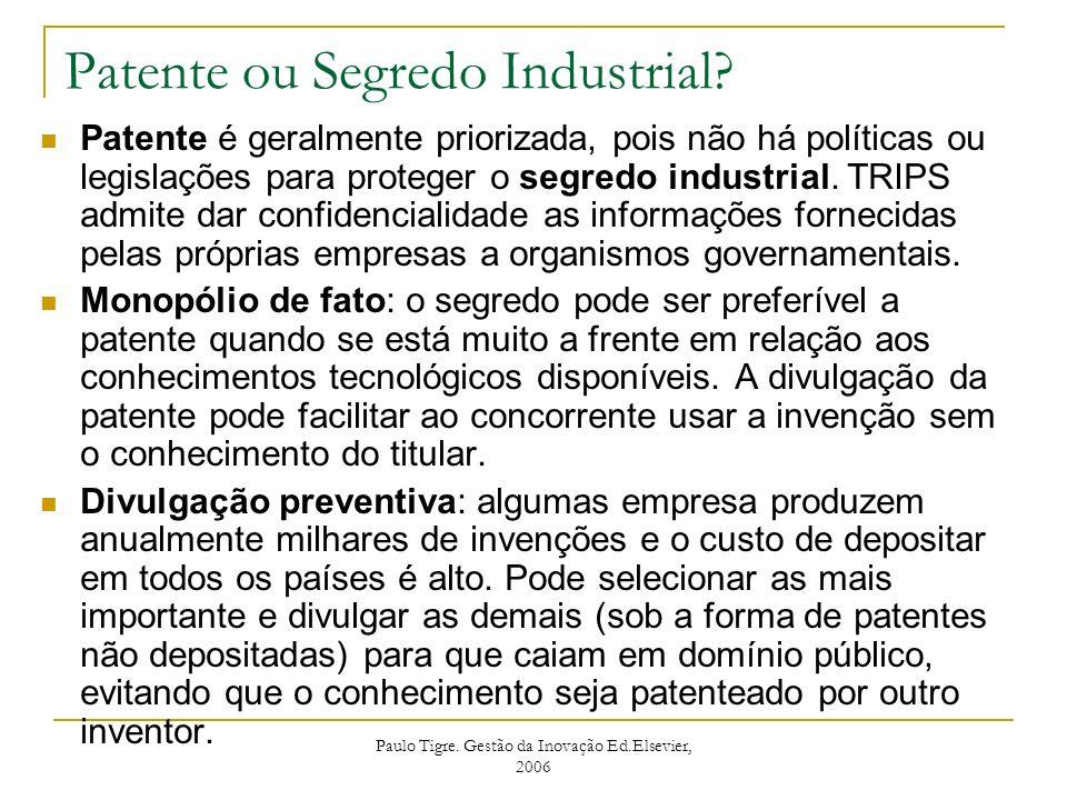 Patente ou Segredo Industrial
