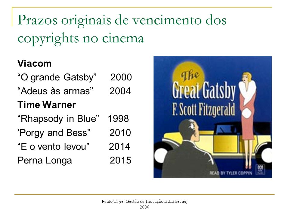 Prazos originais de vencimento dos copyrights no cinema