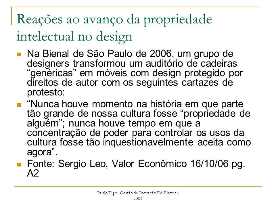 Reações ao avanço da propriedade intelectual no design