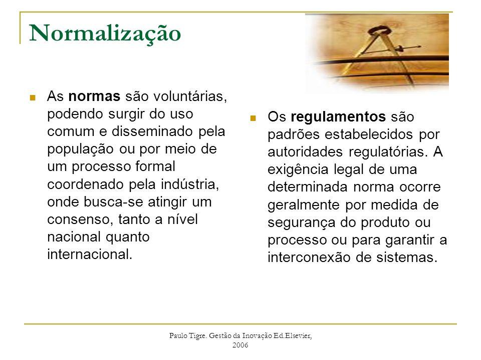 Paulo Tigre. Gestão da Inovação Ed.Elsevier, 2006