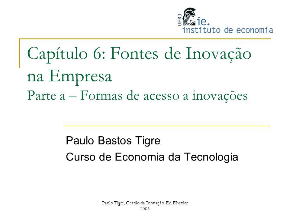 Paulo Bastos Tigre Curso de Economia da Tecnologia