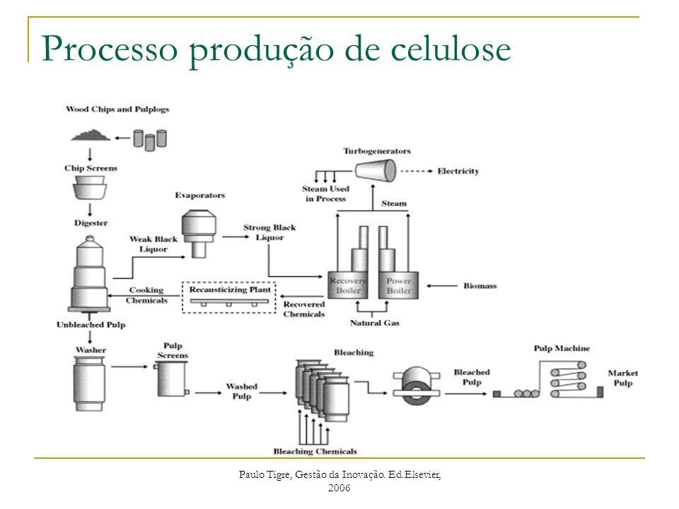 Processo produção de celulose