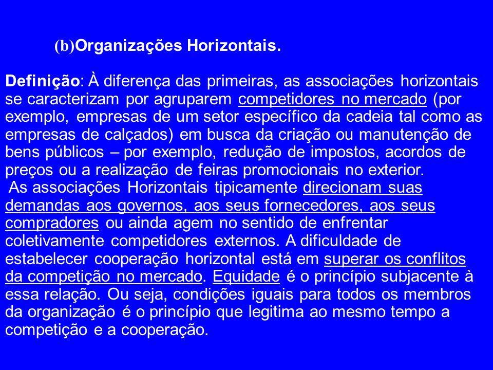 (b)Organizações Horizontais.