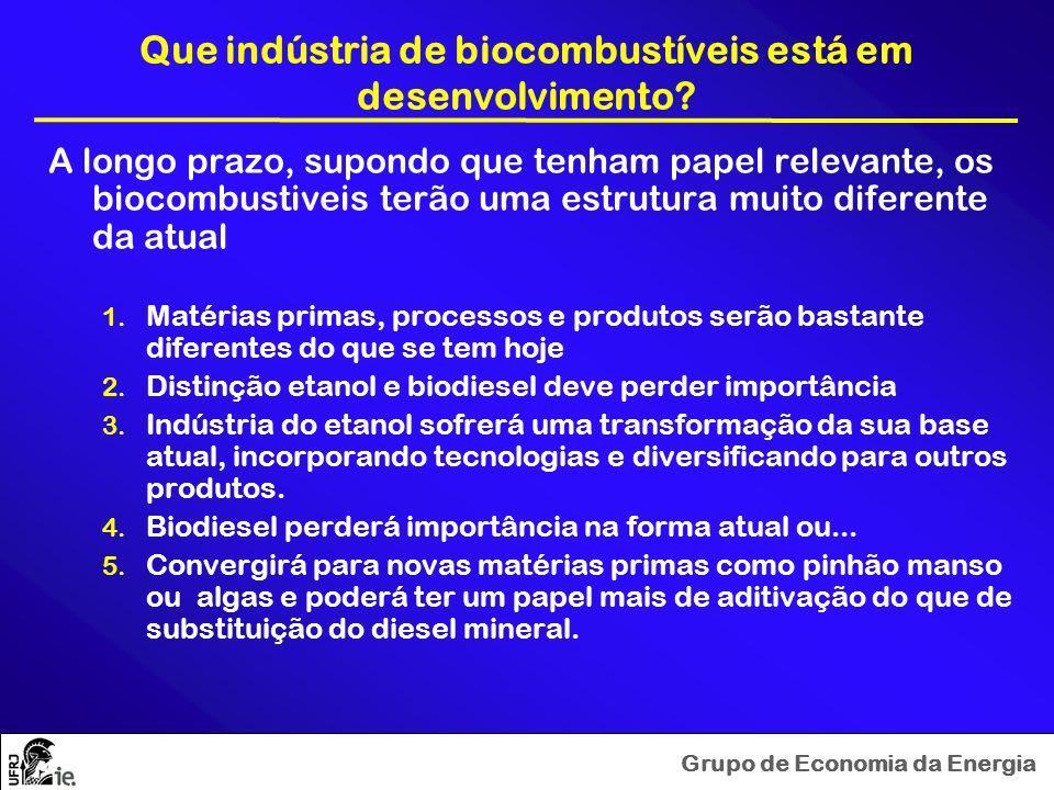 Que indústria de biocombustíveis está em desenvolvimento