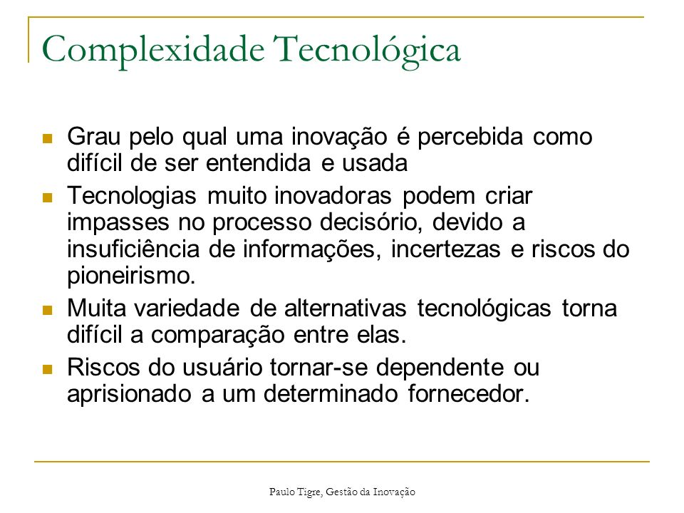Complexidade Tecnológica