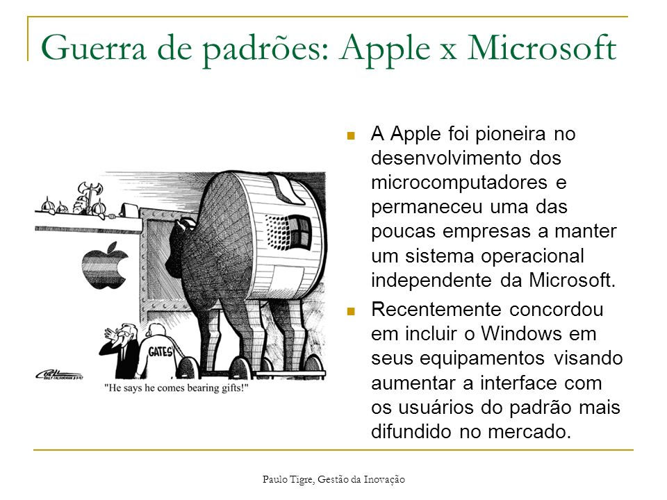 Guerra de padrões: Apple x Microsoft