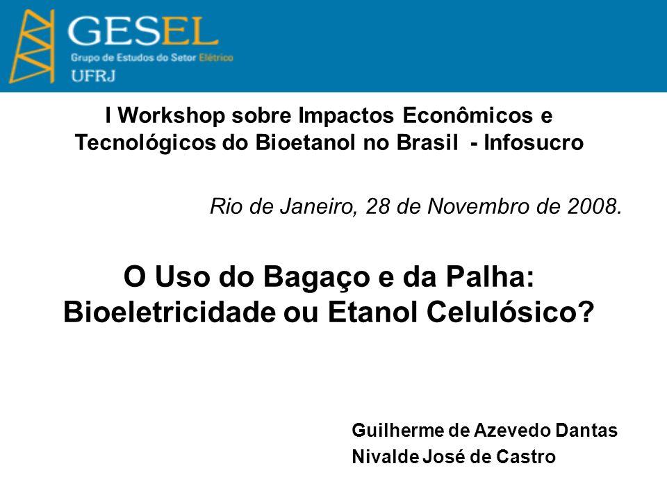 O Uso do Bagaço e da Palha: Bioeletricidade ou Etanol Celulósico