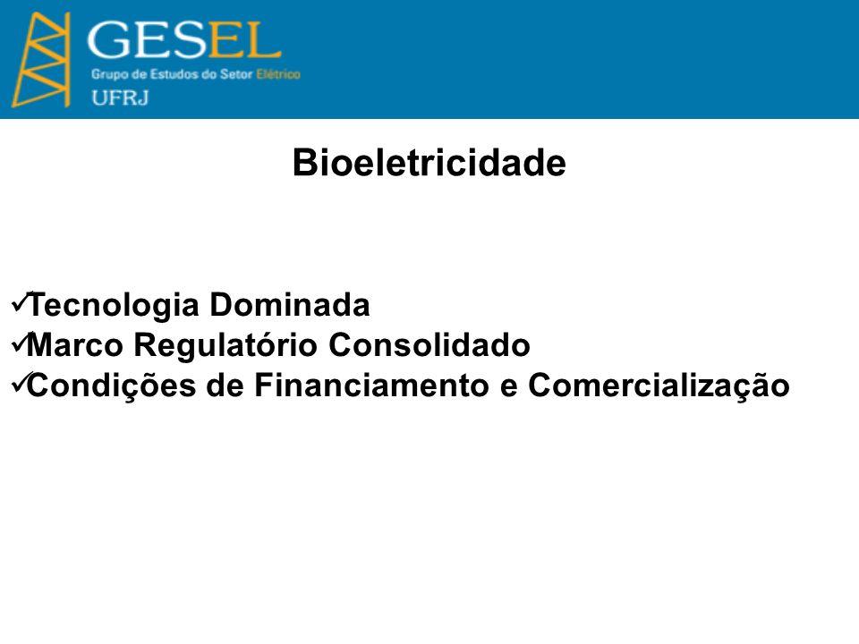 Bioeletricidade Tecnologia Dominada Marco Regulatório Consolidado