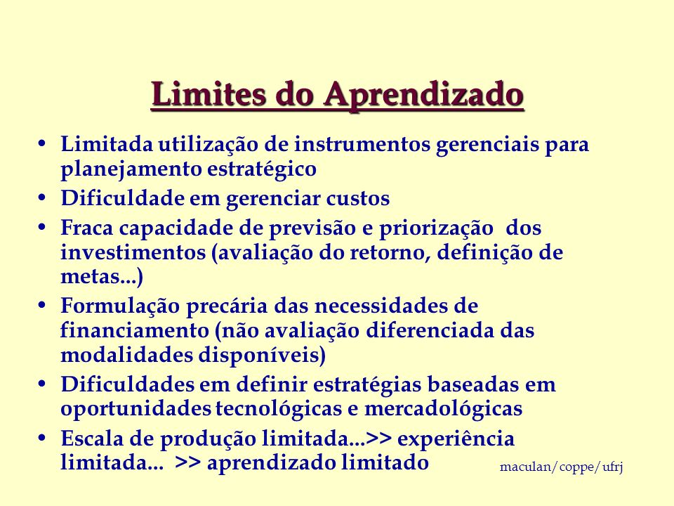 Limites do Aprendizado