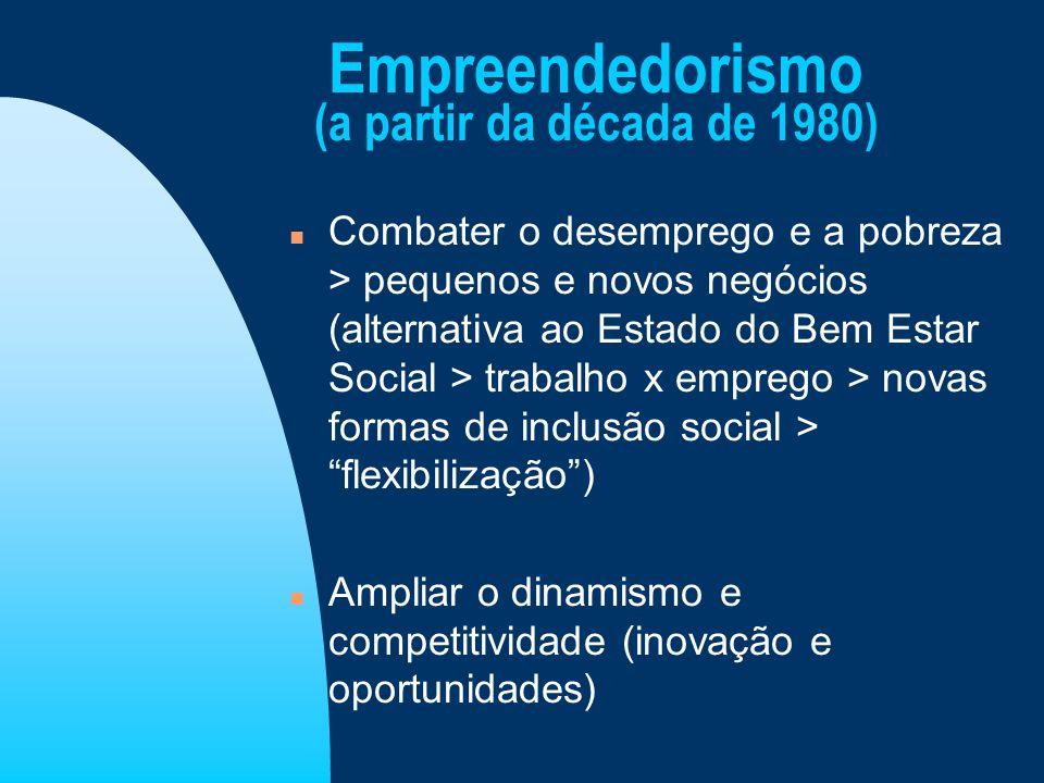 Empreendedorismo (a partir da década de 1980)