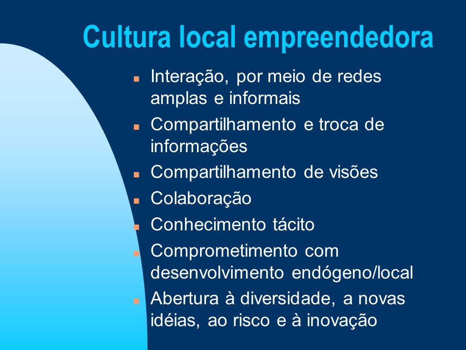 Cultura local empreendedora