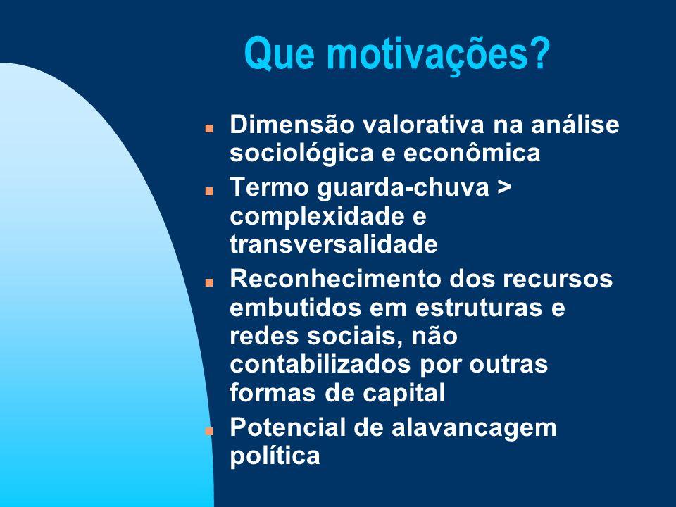 Que motivações Dimensão valorativa na análise sociológica e econômica