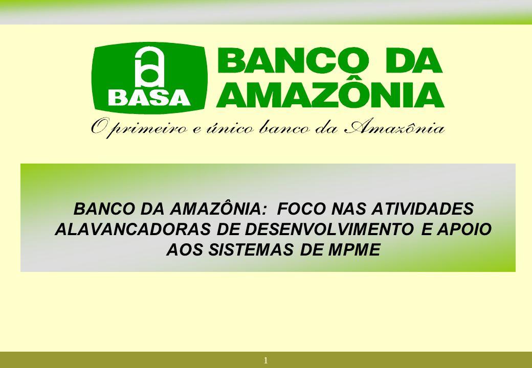 BANCO DA AMAZÔNIA: FOCO NAS ATIVIDADES ALAVANCADORAS DE DESENVOLVIMENTO E APOIO AOS SISTEMAS DE MPME