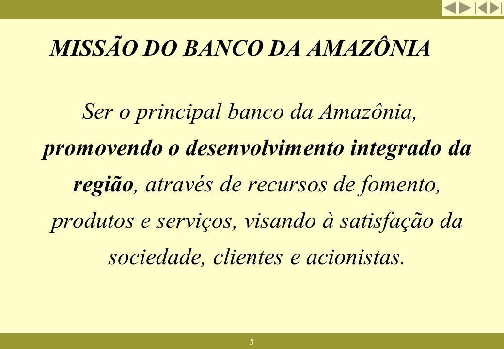 MISSÃO DO BANCO DA AMAZÔNIA