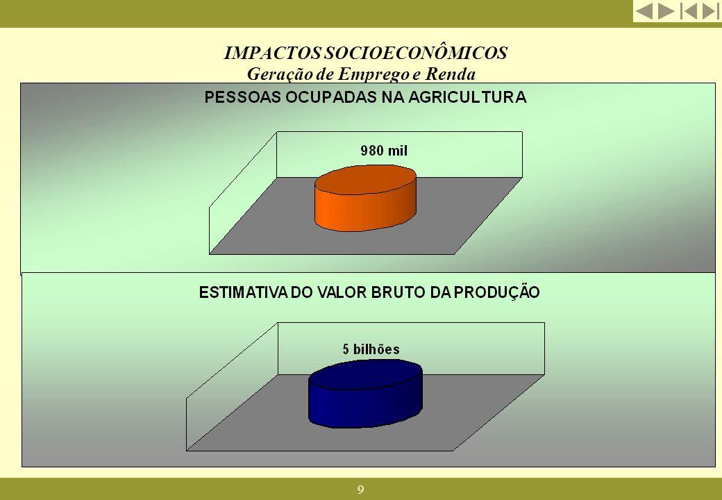 IMPACTOS SOCIOECONÔMICOS Geração de Emprego e Renda
