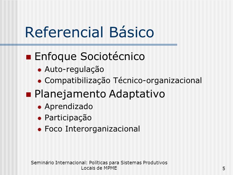 Referencial Básico Enfoque Sociotécnico Planejamento Adaptativo