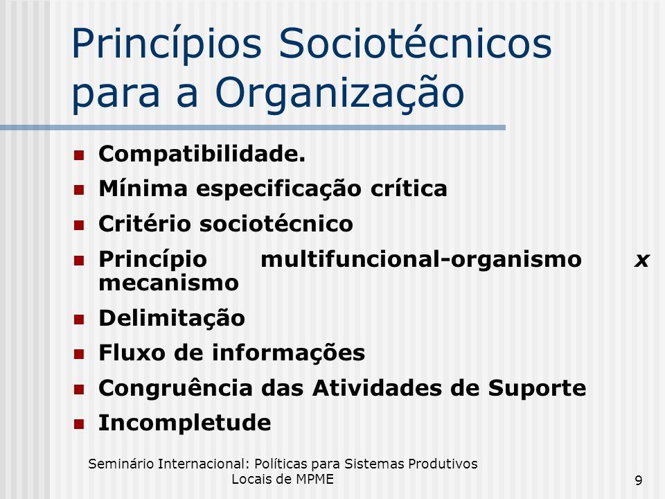 Princípios Sociotécnicos para a Organização