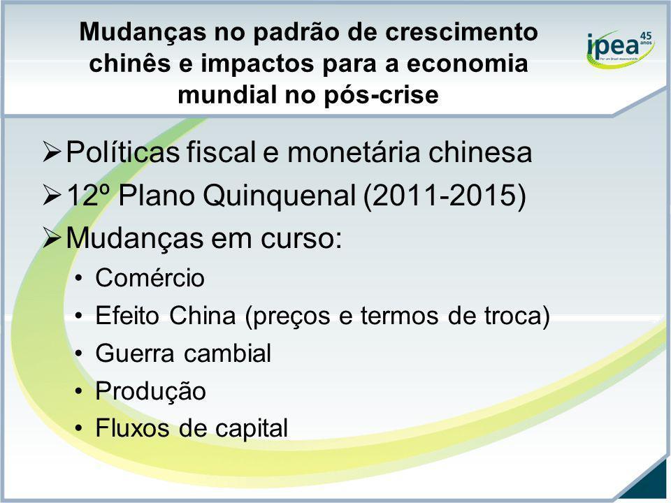 Políticas fiscal e monetária chinesa 12º Plano Quinquenal (2011-2015)