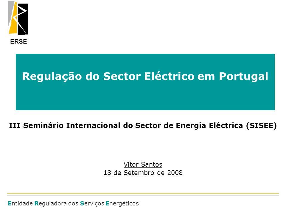 Regulação do Sector Eléctrico em Portugal