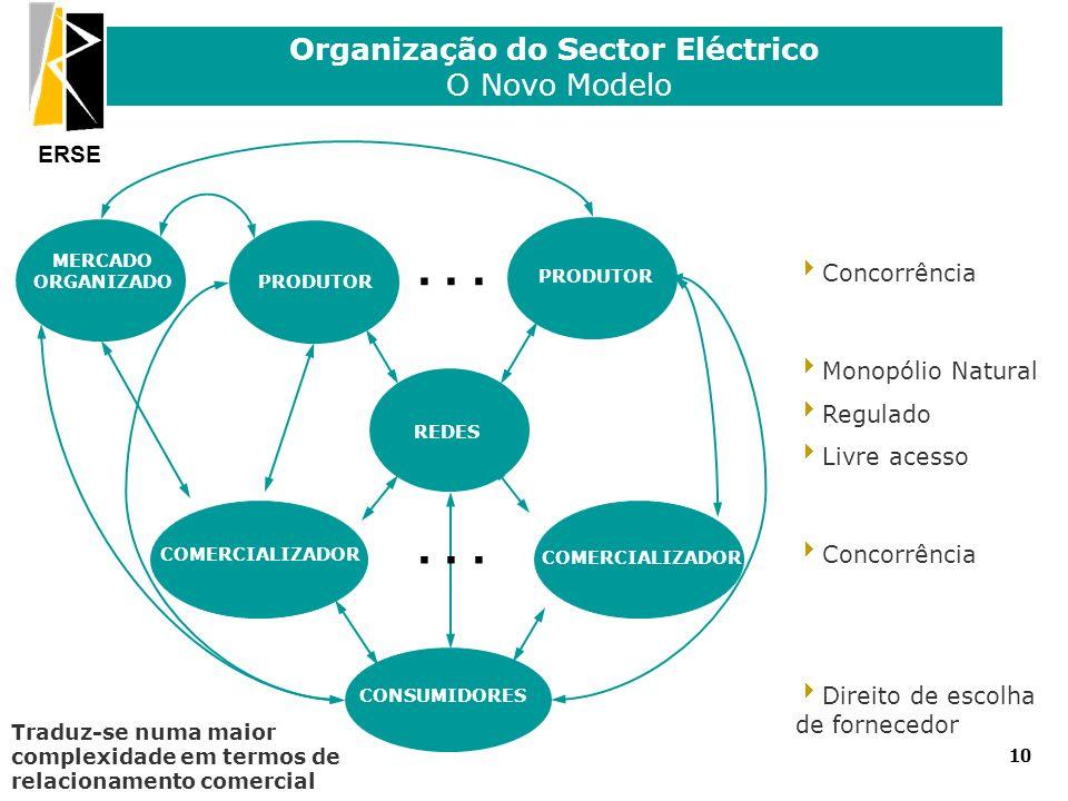 Organização do Sector Eléctrico O Novo Modelo