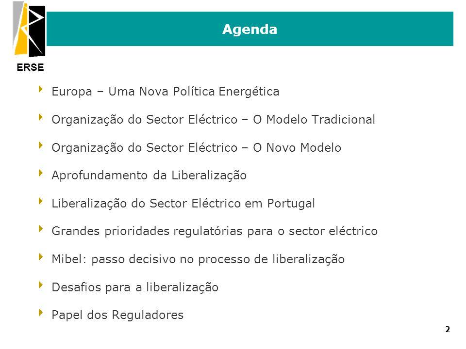 Agenda Europa – Uma Nova Política Energética