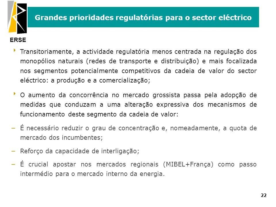 Grandes prioridades regulatórias para o sector eléctrico