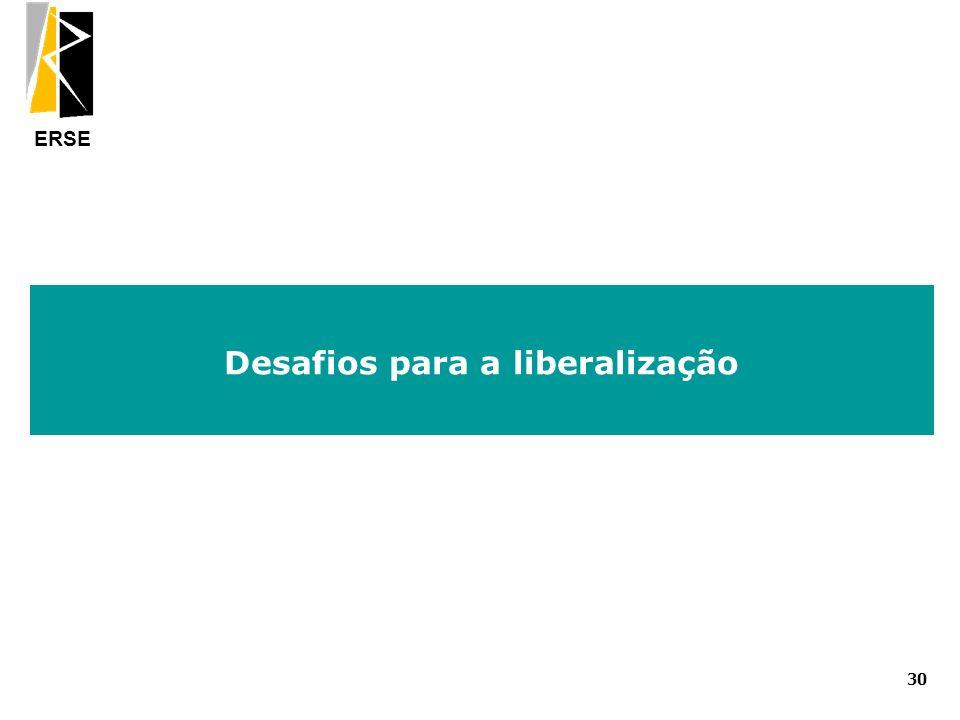Desafios para a liberalização