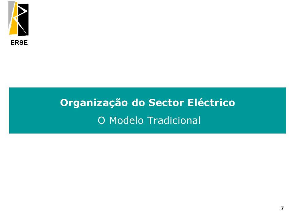 Organização do Sector Eléctrico O Modelo Tradicional