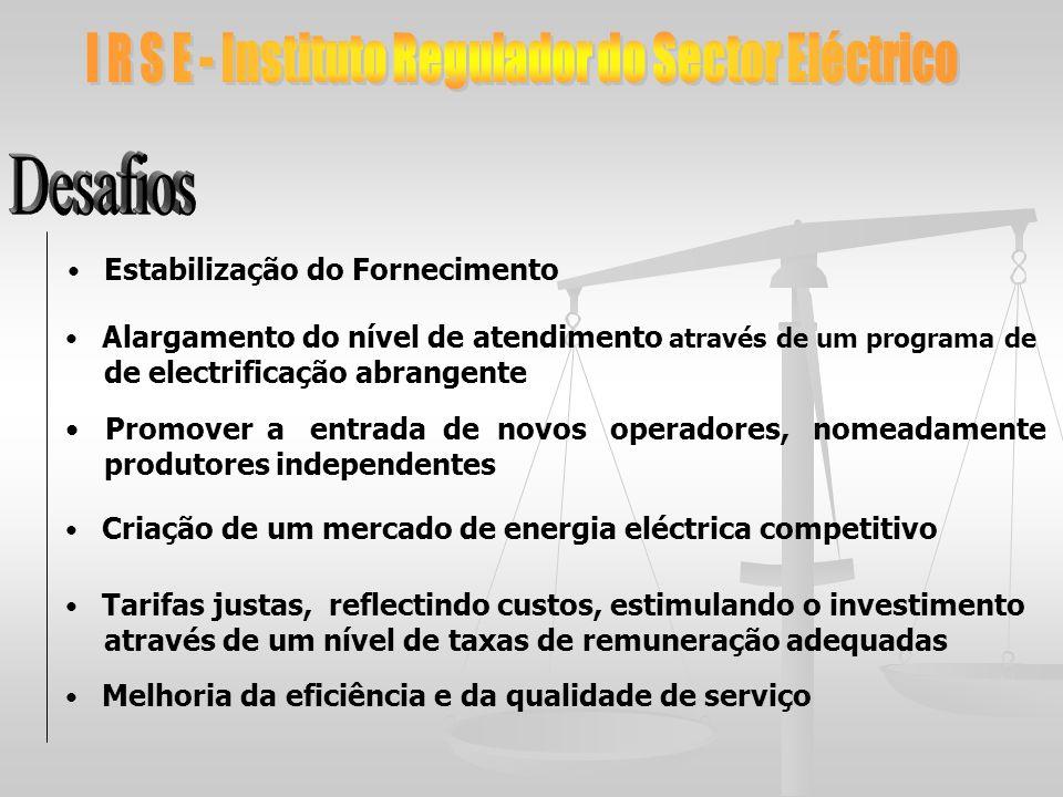 I R S E - Instituto Regulador do Sector Eléctrico