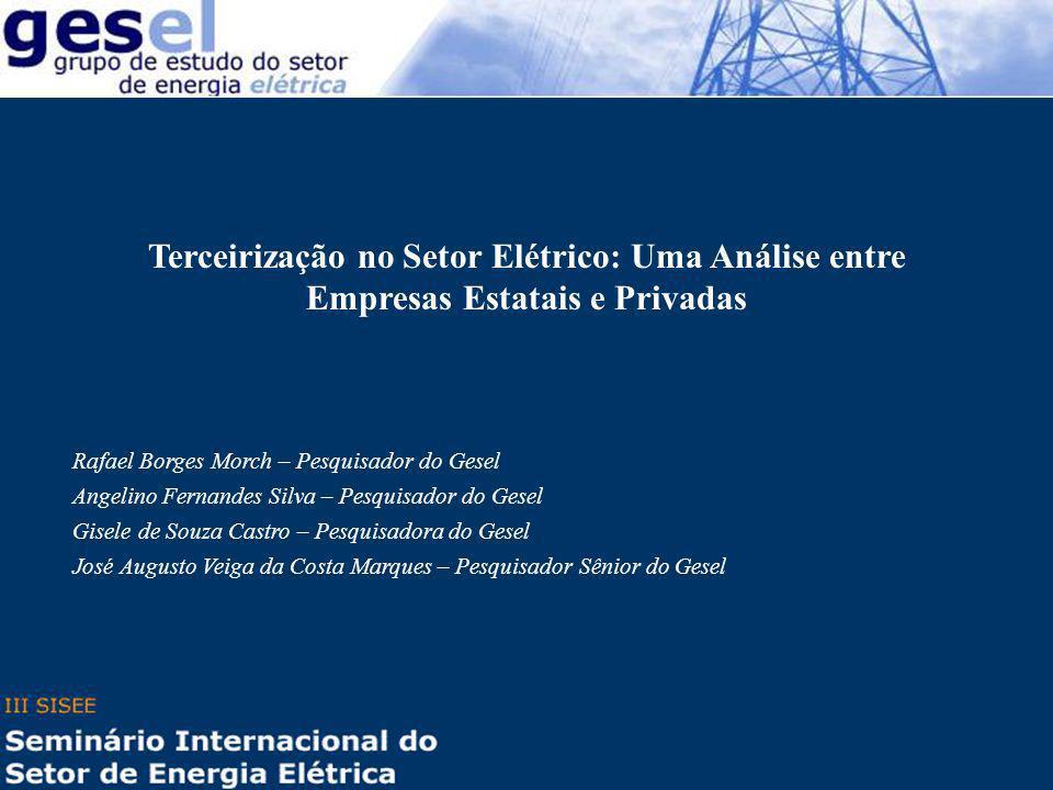 Terceirização no Setor Elétrico: Uma Análise entre Empresas Estatais e Privadas