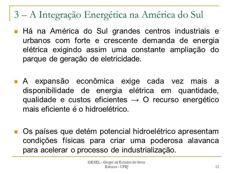 3 – A Integração Energética na América do Sul