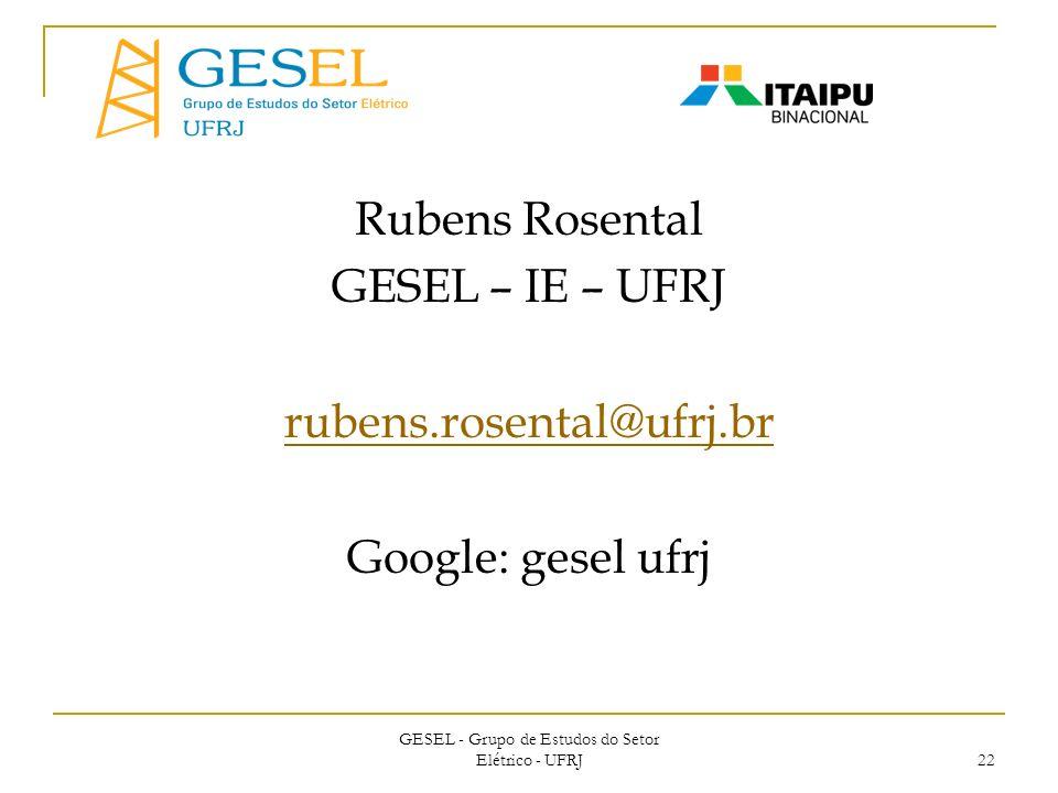 GESEL - Grupo de Estudos do Setor Elétrico - UFRJ