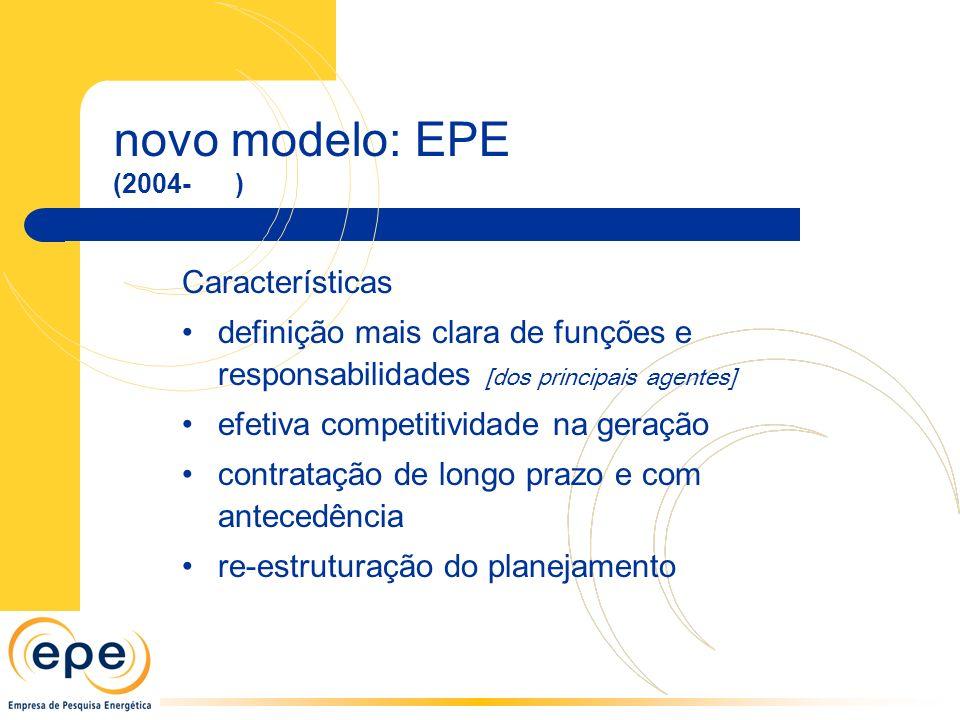 novo modelo: EPE Características