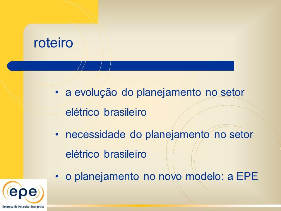 roteiro a evolução do planejamento no setor elétrico brasileiro