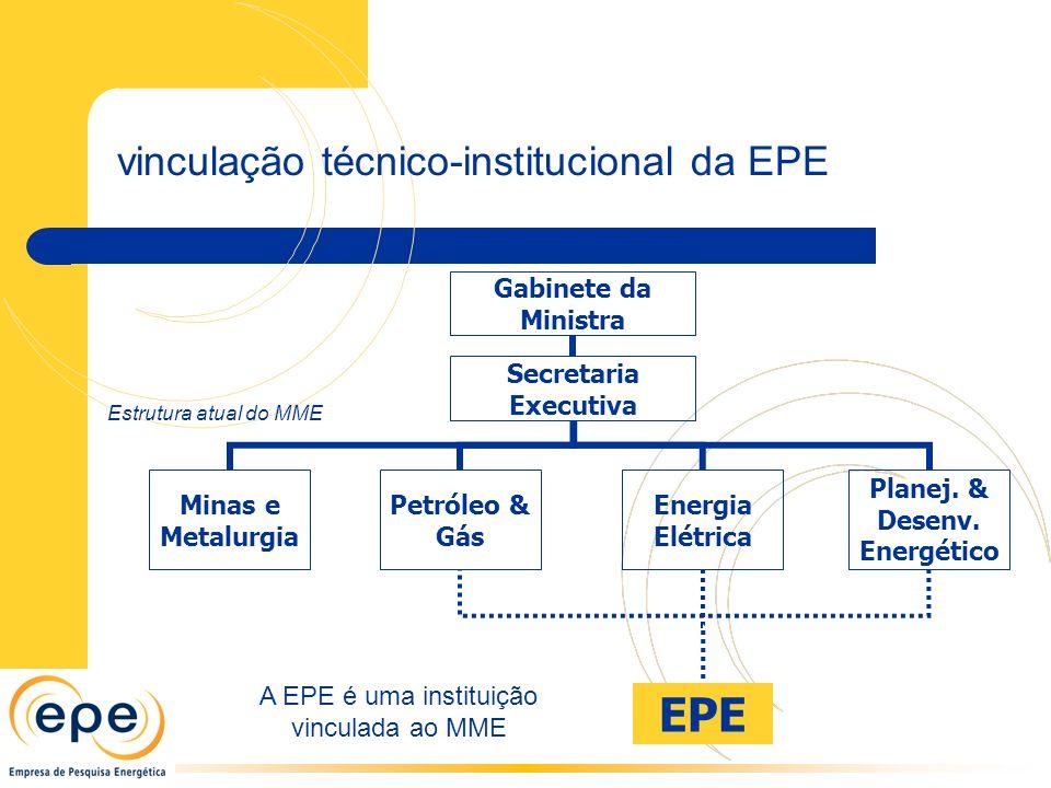 A EPE é uma instituição vinculada ao MME